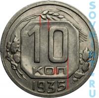 10 копеек 1936, шт.Б