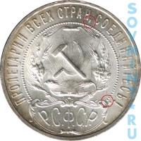 1 рубль 1921, шт.1.1