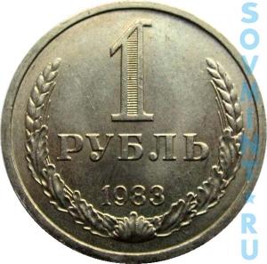 1 рубль 1983, шт.об.ст. (реверс)