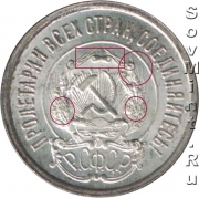 20 копеек 1921-1923, аверс, шт.1.2