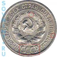 20 копеек 1925, шт.1.2