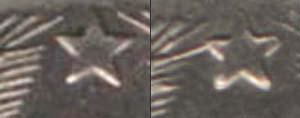 20 копеек 1942, длинная ость слева подходит к звезде
