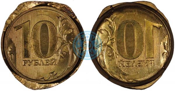 10 рублей, инкузный брак («залипуха») (фото: Meteorid)