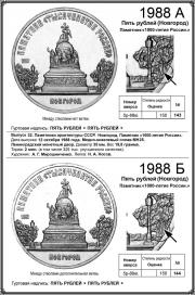 Я. Адрианов, С. Ширнин «Монеты советского государства. Стандартные, юбилейные и памятные для обращения 1961 – 1992 годов», стр.268