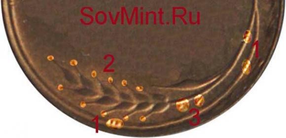 ости, колосья и узлы на монетах СССР