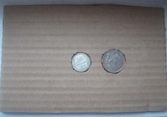 инструкция по упаковке монет, шаг 2