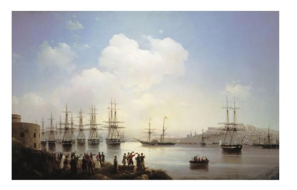 Картина И. Айвазовского «Русская эскадра на Севастопольской рейде»
