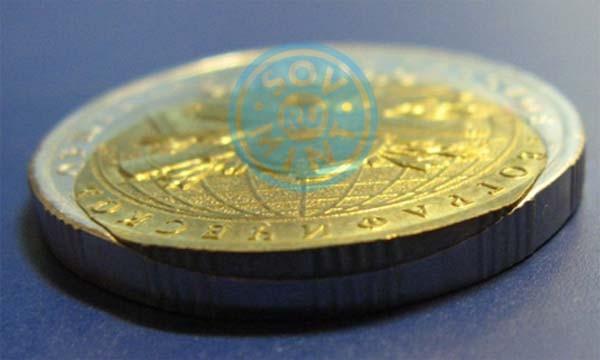 5 рублей 2015 РГО. Монетный брак пазл. В собранном виде.