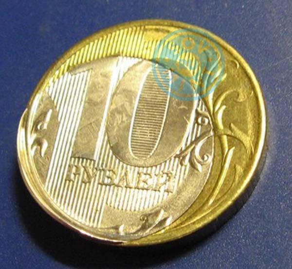 10 рублей 2015 года. Монетный брак пазл. В собранном виде.