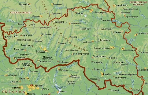 Белгородская область (карта)