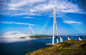 Дальний восток. Мост на остров Русский.